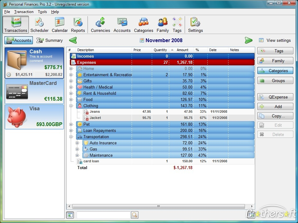 Free Personal Finance Software For Windows 10 Personal Financial Planning And Analysis