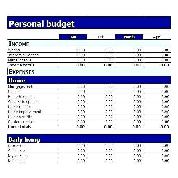 online personal budget planner