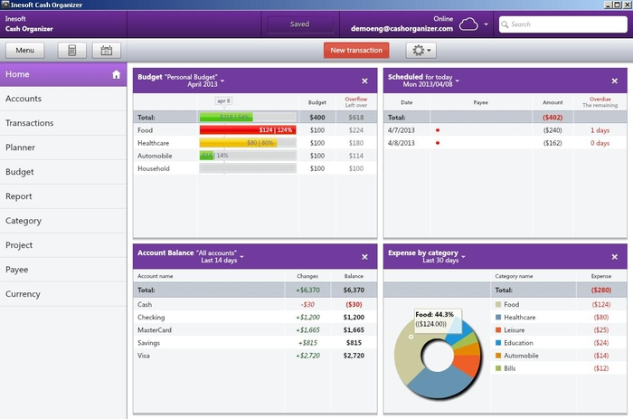 personal finance managing software